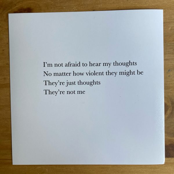 Print of the 'Just thoughts' Note